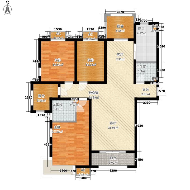 紫城秦皇半岛135.89㎡A户型3室2厅