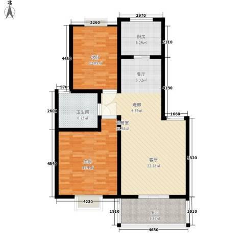 北京路18号2室0厅1卫1厨98.00㎡户型图