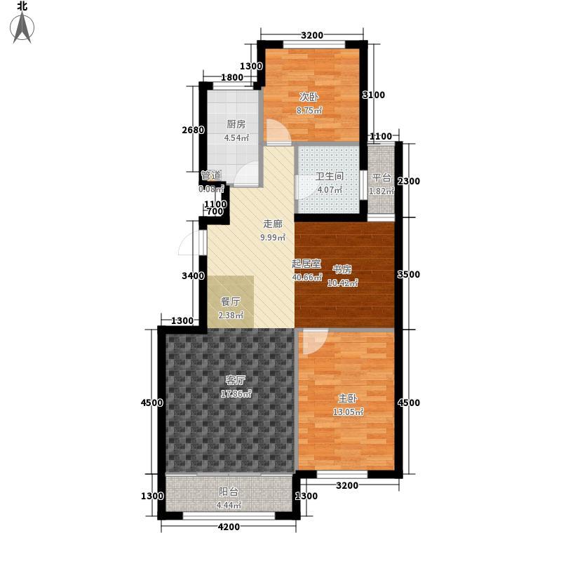 富有花园90.00㎡C户型3室2厅