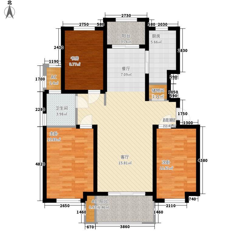 胶南清华园胶南・清华园1-8号楼多层B2户型