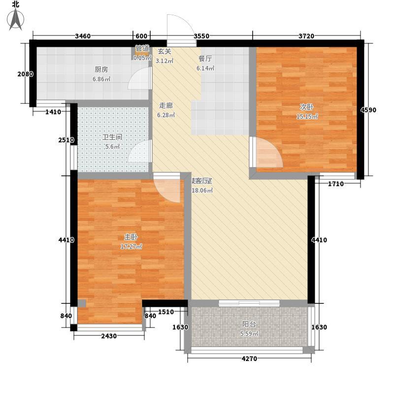正商明钻89.65㎡二期18#、19#楼面积8965m户型