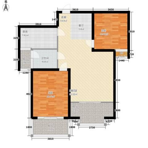 北京路18号2室0厅1卫1厨135.00㎡户型图