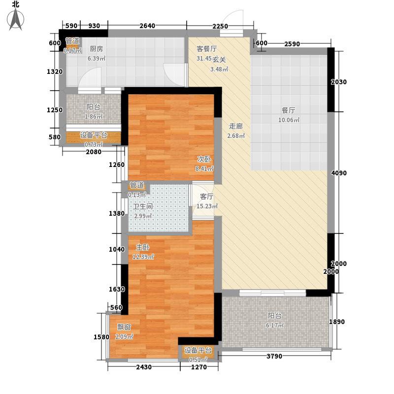 丰怡豪庭95.00㎡35栋2-24楼户型