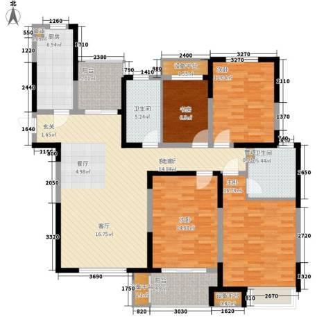 中环紫郡4室1厅2卫1厨139.00㎡户型图