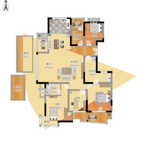 下沙文汇苑4室1厅2卫1厨228.00㎡户型图