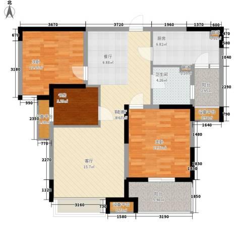 中环紫郡3室1厅1卫1厨98.00㎡户型图