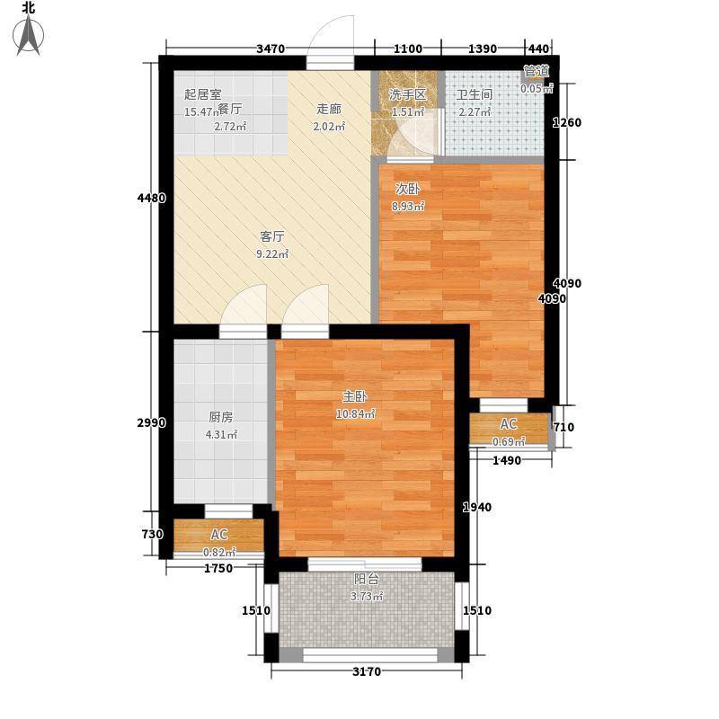 紫城秦皇半岛67.77㎡G-1户型2室2厅