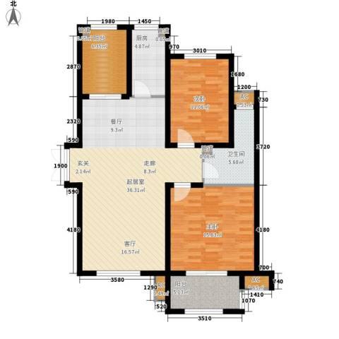 谈固国瑞城2室0厅1卫1厨125.00㎡户型图