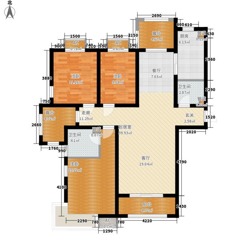 紫城秦皇半岛135.60㎡A户型3室2厅