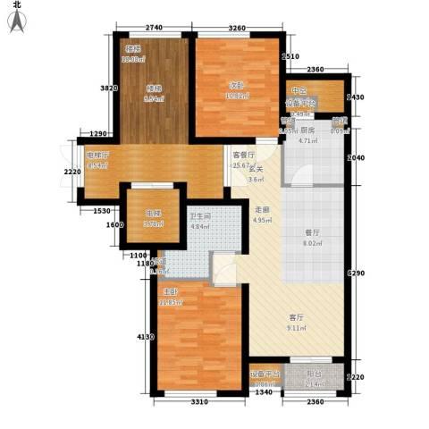 绿城百合花园2室1厅1卫1厨85.39㎡户型图