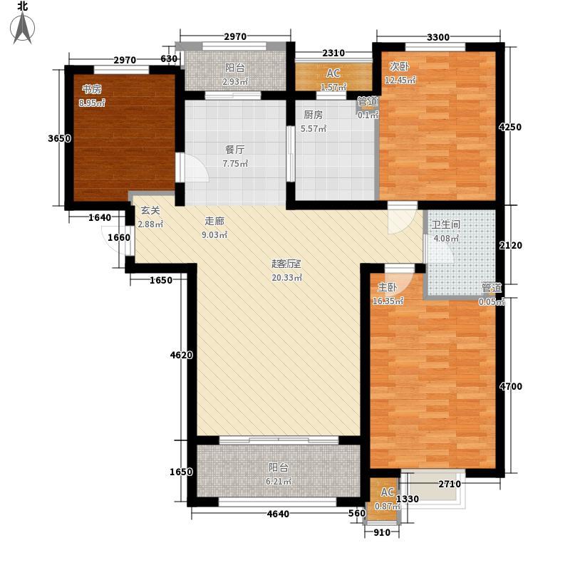 紫城秦皇半岛112.26㎡L户型3室2厅