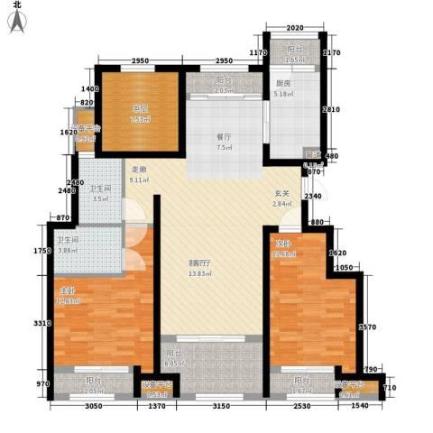 创想凯旋湾2室1厅2卫1厨140.00㎡户型图