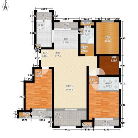 创想凯旋湾3室1厅2卫1厨164.00㎡户型图