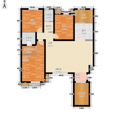 大石桥国税局家属院3室0厅2卫1厨119.17㎡户型图
