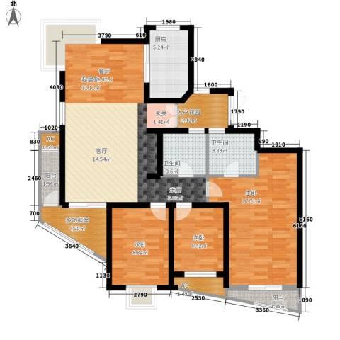 大石桥国税局家属院3室0厅2卫1厨105.00㎡户型图