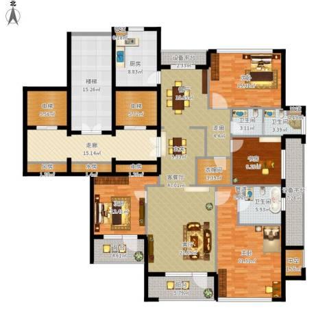 绿城御园4室1厅3卫1厨282.00㎡户型图