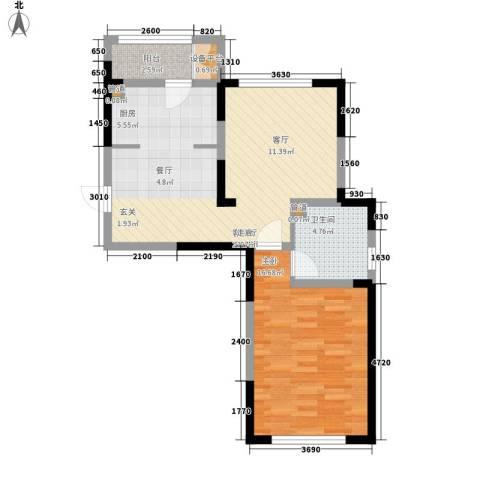 洛卡小镇1室1厅1卫0厨61.97㎡户型图