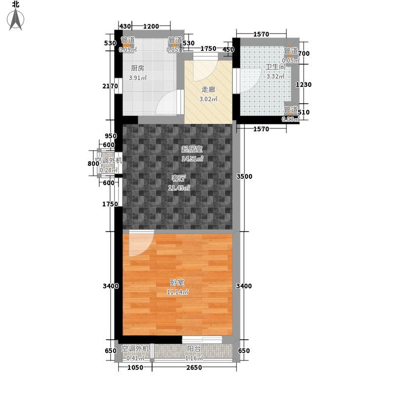 裕华公寓36.00㎡面积3600m户型