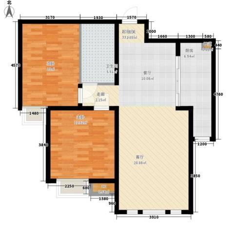 泰达御海2室0厅1卫1厨101.00㎡户型图
