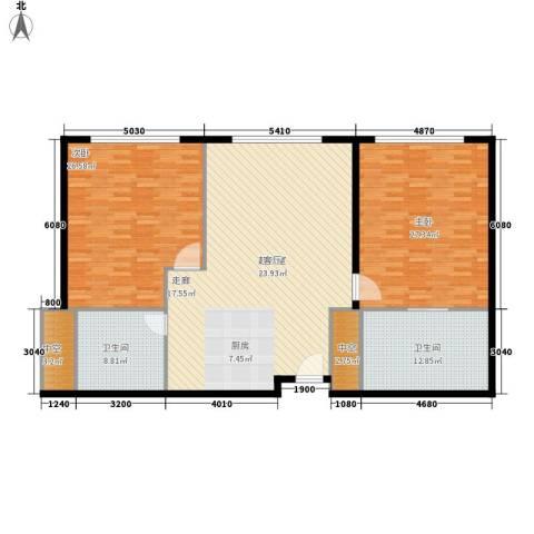 天津中心2室0厅2卫0厨176.00㎡户型图