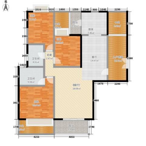 朱美拉公寓3室1厅2卫1厨187.00㎡户型图