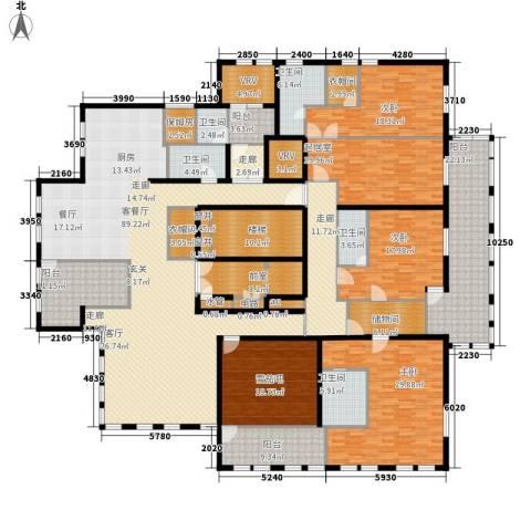 中粮祥云国际生活区3室1厅5卫0厨487.00㎡户型图