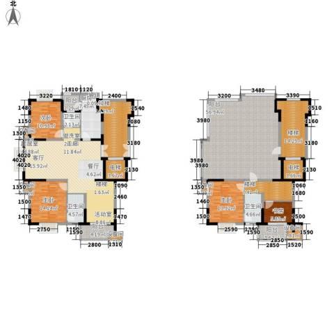 鸿雁名居4室0厅3卫1厨223.14㎡户型图