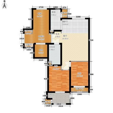 绿城百合花园2室1厅1卫1厨94.00㎡户型图