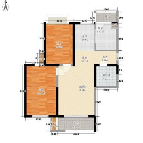 艺树澜庭2室0厅1卫1厨105.00㎡户型图