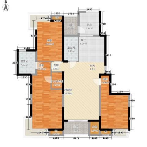 艺树澜庭3室0厅2卫1厨139.00㎡户型图
