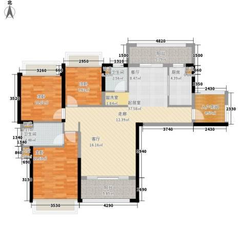 中洋公园首府3室0厅2卫1厨140.00㎡户型图