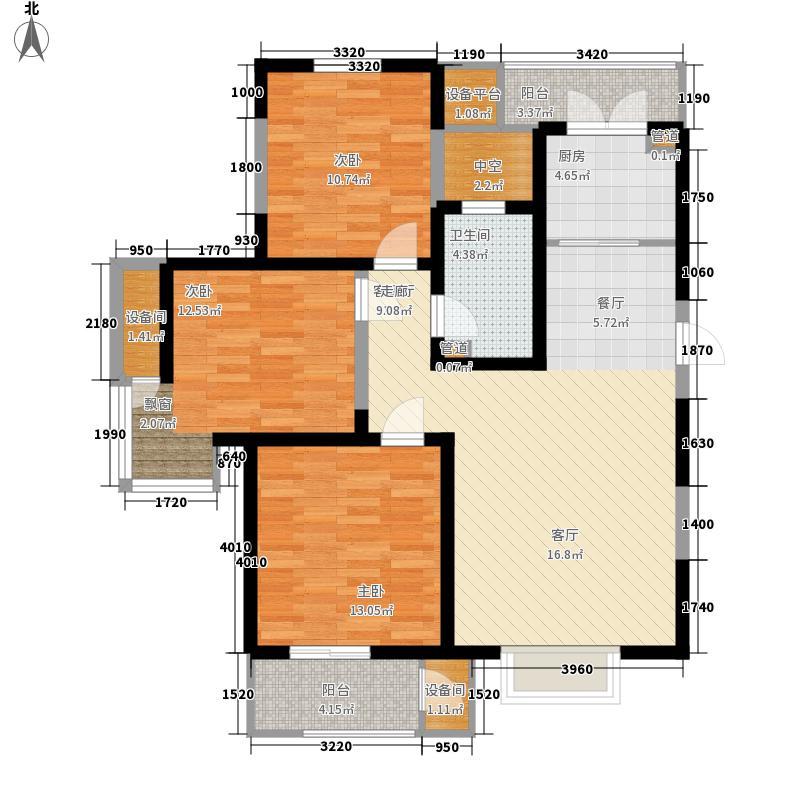 格调竹境3-E 约123平米户型