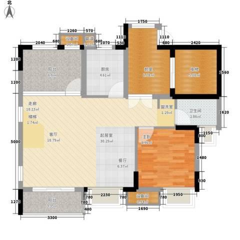 康田紫悦府1室0厅1卫1厨106.00㎡户型图