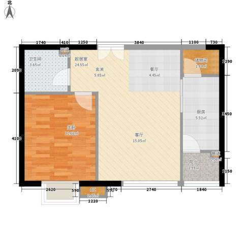 富力城1室0厅1卫1厨71.00㎡户型图