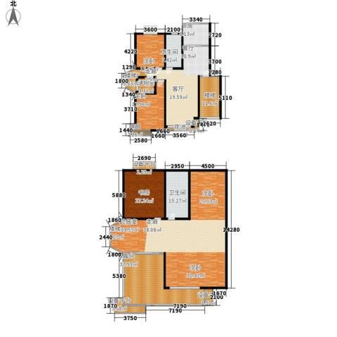 方圆兰庭3室1厅2卫1厨418.00㎡户型图