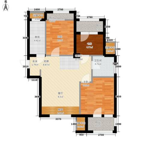 锦绣天地3室1厅1卫1厨86.00㎡户型图