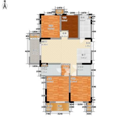 日月明园4室1厅2卫1厨139.00㎡户型图