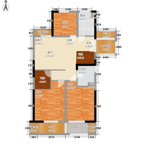 日月明园4室1厅1卫1厨110.00㎡户型图