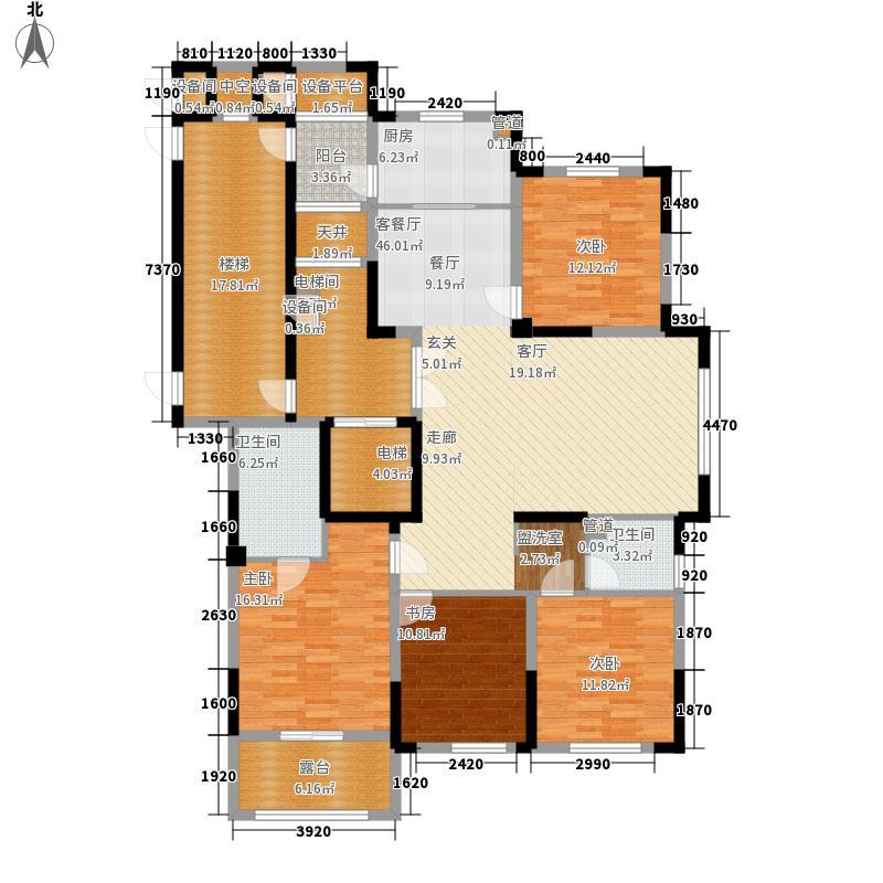日月明园君廷高层53#东边套偶数层户型