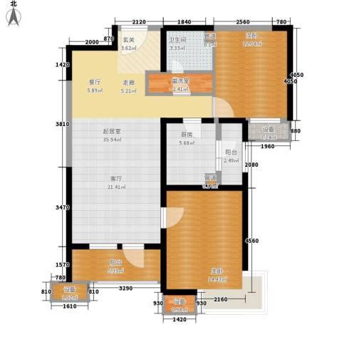 天津湾海景文苑2室0厅1卫1厨115.00㎡户型图