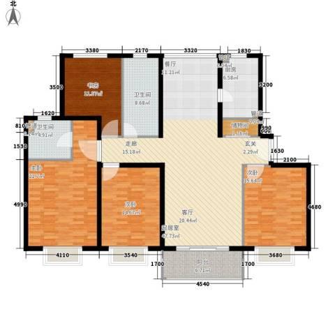 上海梦想4室0厅2卫1厨196.00㎡户型图