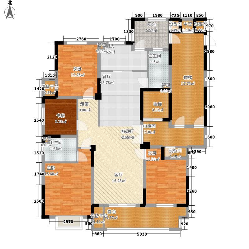 日月明园君廷高层54#西边套偶数层户型