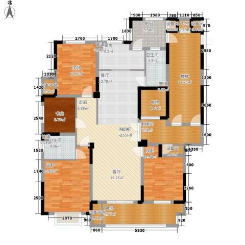 日月明园4室1厅2卫1厨221.00㎡户型图