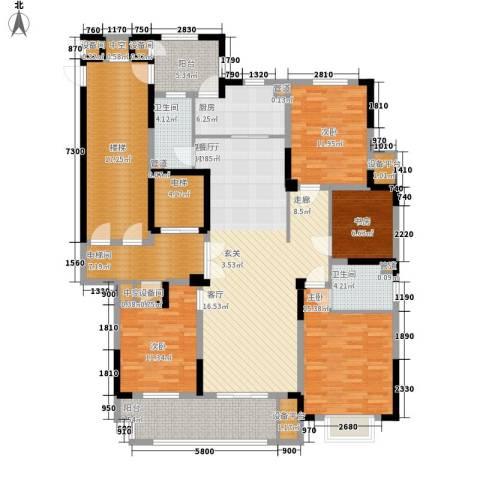 日月明园4室1厅2卫1厨216.00㎡户型图