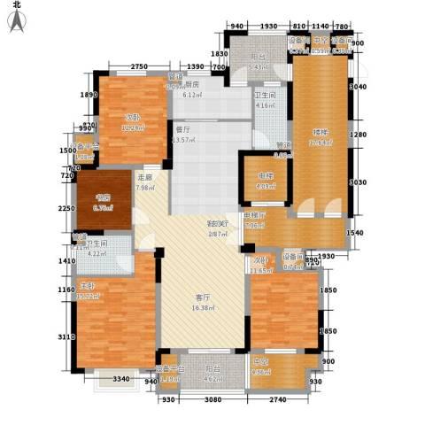 日月明园4室1厅2卫1厨217.00㎡户型图