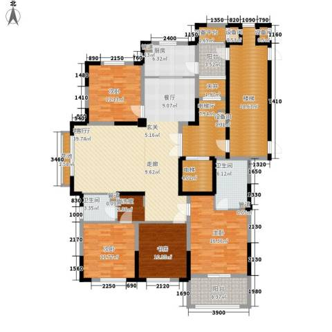 日月明园4室1厅2卫1厨231.00㎡户型图