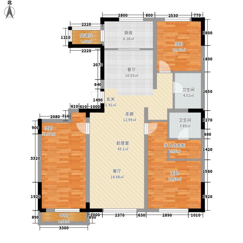 万通金府国际149.90㎡高层5号楼1门3-13层02户型