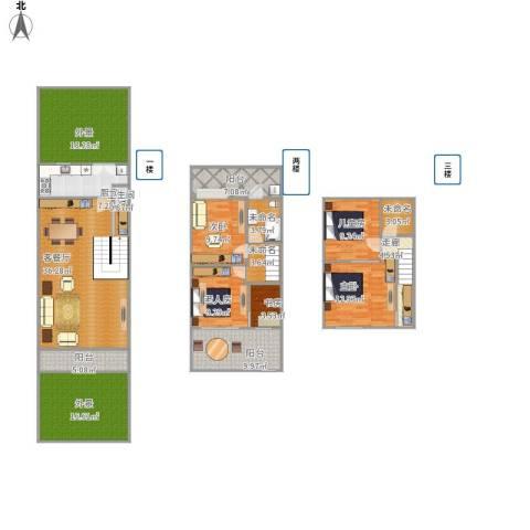 锦秋花园别墅5室1厅1卫1厨217.00㎡户型图