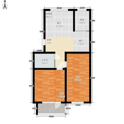贵和花园三期2室0厅1卫1厨90.00㎡户型图