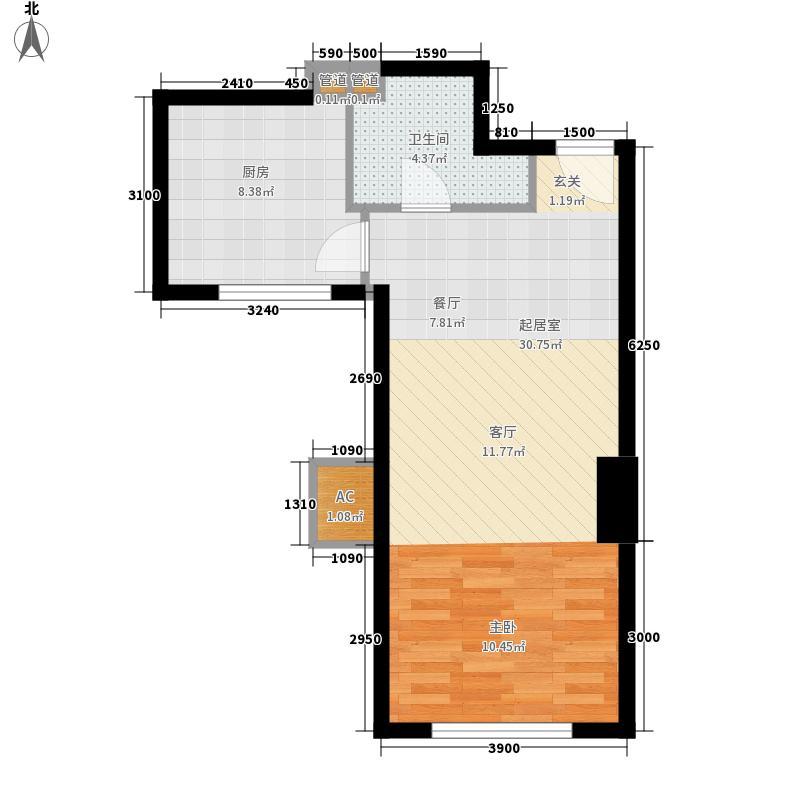 波尔多法式小公馆E1型(平户型